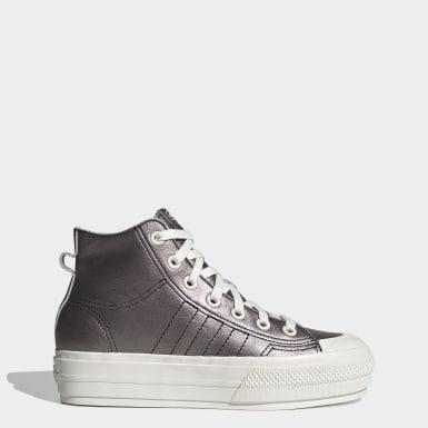 Sapatos de Plataforma Nizza RF Mid Preto Mulher Originals