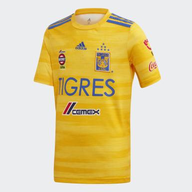 Jersey Titular Tigres UANL Amarillo Niño Fútbol