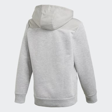 Sweat-shirt à capuche Sport ID Gris Garçons Training