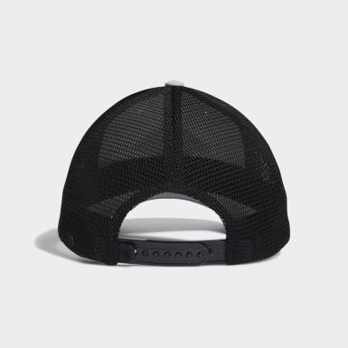 Women Golf White Printed Mesh-Back Hat