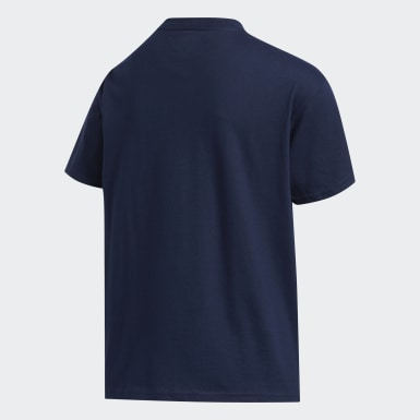 Youth Training Blue Badge of Sport Tee