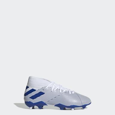 Boys Fodbold Hvid Nemeziz 19.3 Firm Ground støvler
