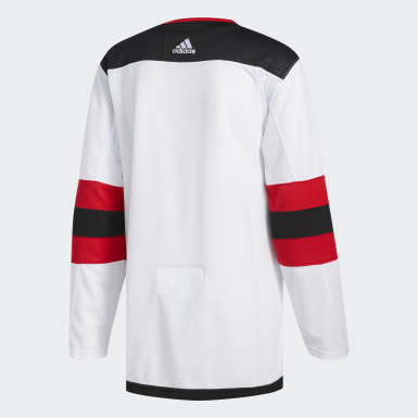 Men Hockey White Devils Away Authentic Pro Jersey