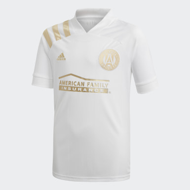 Youth Soccer White Atlanta United FC Away Jersey
