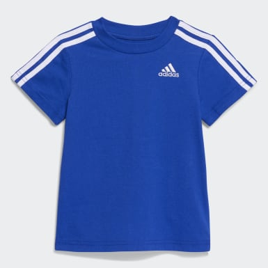 Infant & Toddler Training Blue 3-Stripes French Terry Shorts Set