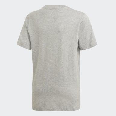 Camiseta Essentials Linear Logo Gris Niño Athletics
