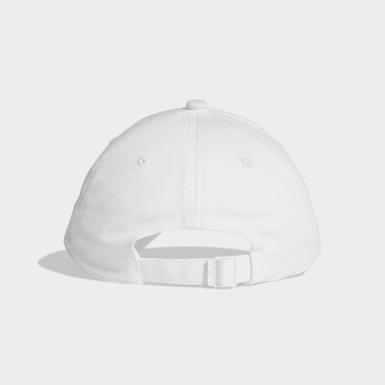 Training Six-Panel Classic 3-Streifen Kappe Weiß