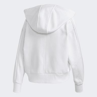 Chaqueta con capucha Cropped Blanco Mujer adidas by Stella McCartney