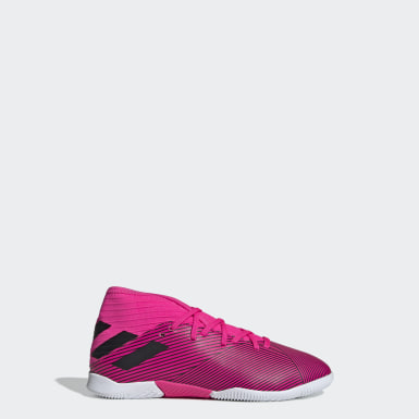 Kids Football Pink Nemeziz 19.3 Indoor