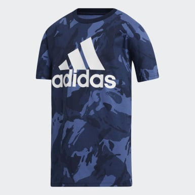Children Training Blue Classic Camo Tee
