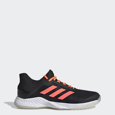 Women Tennis Black Adizero Club Shoes