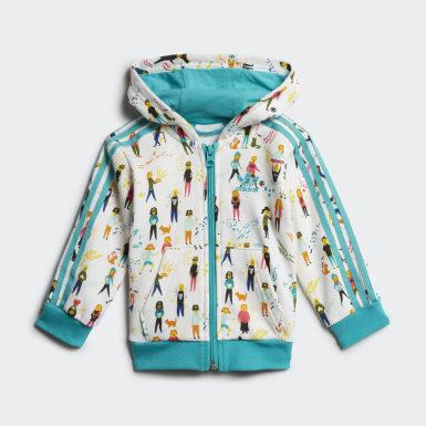 Infant Originals Multicolor Hoodie Set