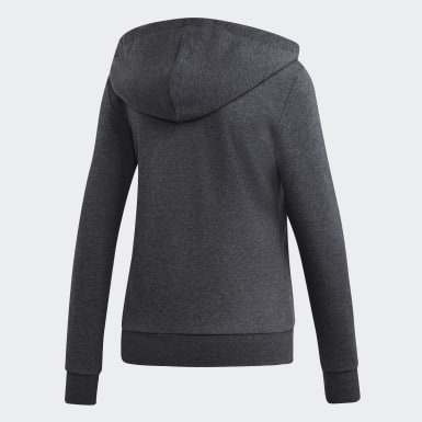 Hoodie Essentials Linear Grigio Donna Athletics