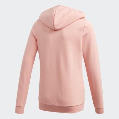 Kids Training Pink Linear Hoodie