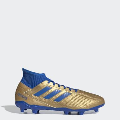 Bota de fútbol Predator 19.3 césped natural seco Oro Hombre Fútbol