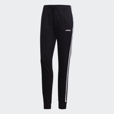 Women Athletics Black Essentials 3-Stripes Joggers