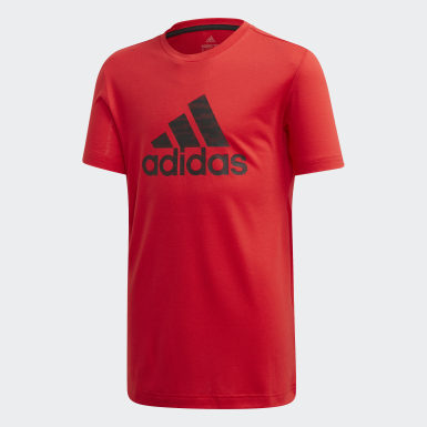 Boys Training Red Prime Tee