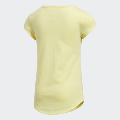 Children Training Yellow Scoop-Neck Tee