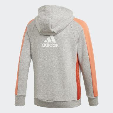Sweat-shirt à capuche adidas Athletics Club Gris Filles Athletics