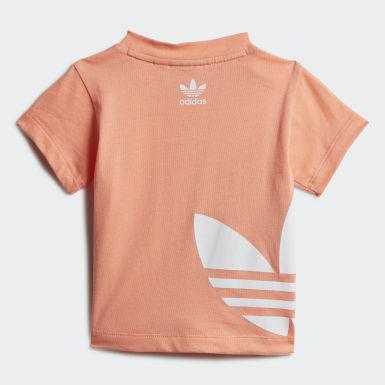 Kids Originals Orange Big Trefoil T-Shirt