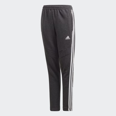 Youth Soccer Black Tiro 19 French Terry Pants