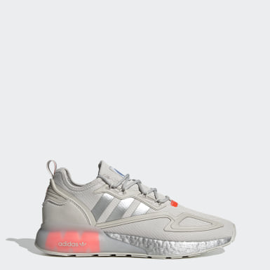 Men's Originals Grey ZX 2K Boost Shoes