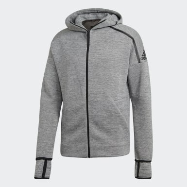 Men Athletics Grey adidas Z.N.E. Fast Release Hoodie