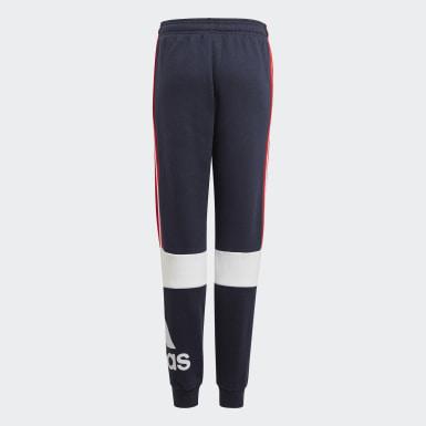 Boys Athletics Blå adidas Essentials Colourblock bukser