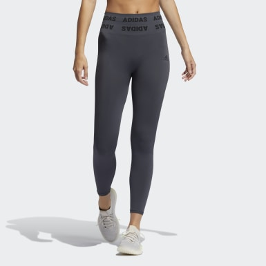 Tight Training Aeroknit 7/8 High-Rise Gris Femmes Running