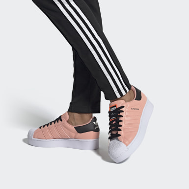 Women Originals Pink Superstar Bold Shoes