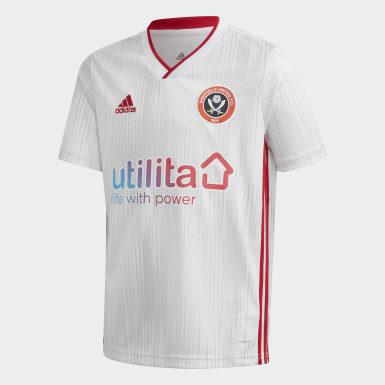 Jungen Fußball Sheffield United Auswärtstrikot Weiß