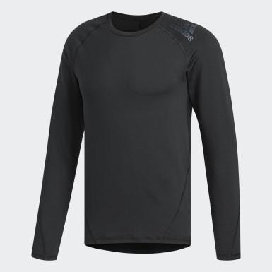 Camiseta cuello redondo Climawarm Golf Negro Hombre Golf