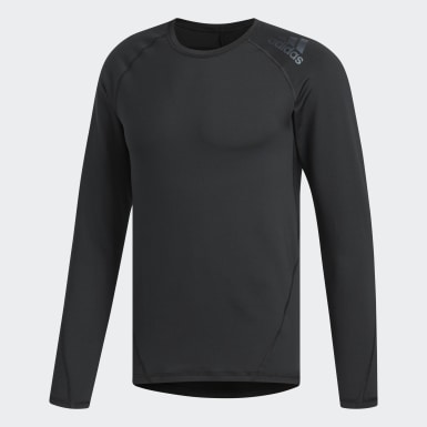 Men Golf Black Climawarm Base Layer Shirt