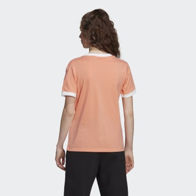 Women Originals Orange 3-Stripes Tee