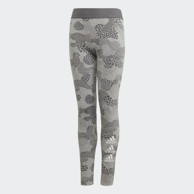 Mädchen Yoga Must Haves Graphic Tight Grau