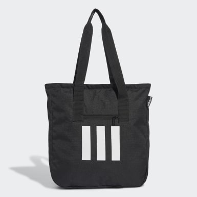 Women Lifestyle Black 3-Stripes Tote Bag