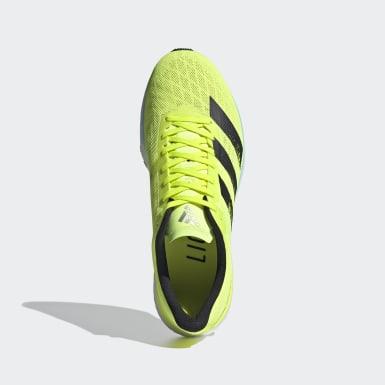ผู้ชาย วิ่ง สีเหลือง รองเท้า Adizero Adios 5