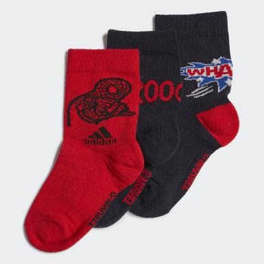 Děti Běh modrá Ponožky Spider-Man Graphic Crew – 3 páry