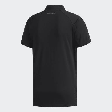 Men Tennis Black Climachill Polo Shirt