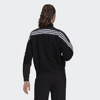 Women's Athletics Black adidas Sportswear Aeroknit Track Top