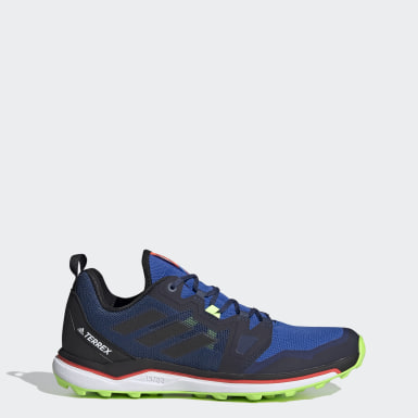 Men TERREX Blue Terrex Agravic Trail Running Shoes