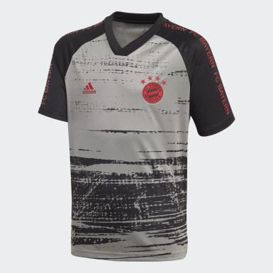 Jongens Voetbal Grijs FC Bayern München Pre-Match Voetbalshirt
