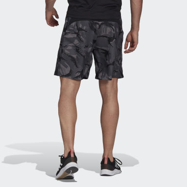 Pantalón corto adidas Designed To Move Camouflage AEROREADY Gris Hombre Cross Training