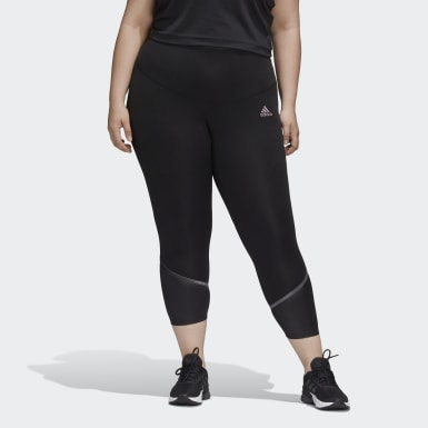 Women's Training Black Glam-On Tights (Plus Size)