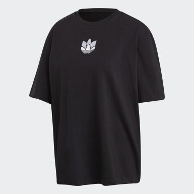 T-shirt Adicolor 3D Trefoil Noir Femmes Originals