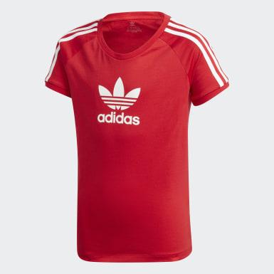 เด็กผู้หญิง Originals สีแดง เสื้อยืด