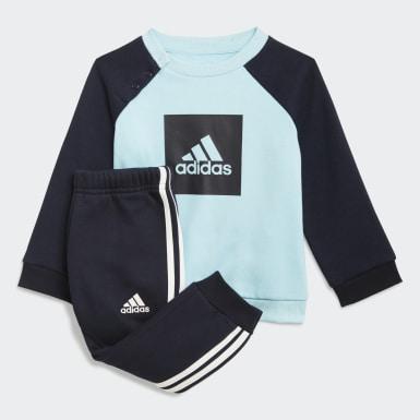 Conjunto 3-Stripes Fleece Jogger (UNISSEX) Azul Kids Training