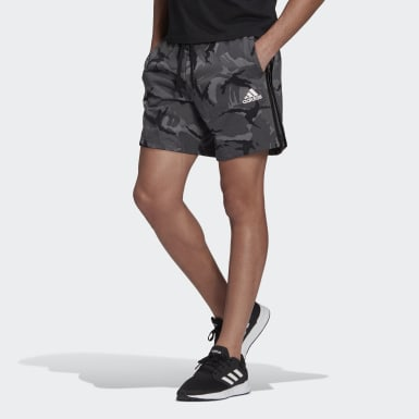 Men Athletics Grey Essentials French Terry Camouflage Shorts