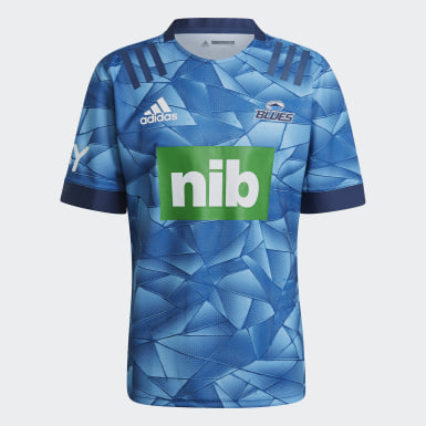 Men Rugby Blue Blues Rugby Home Replica Jersey