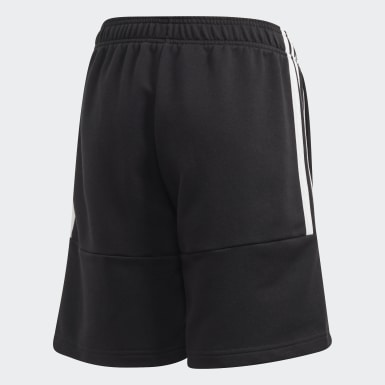 Boys Training Black Must Haves 3-Stripes Shorts